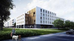 wizualizacja zespołu mieszkaniowego , źródło: jk-architekci.pl