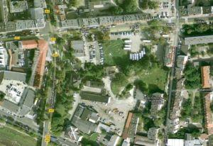 Teren w Opolu u zbiegu ul.1maja i ul Dubois. źródło: google.maps.pl