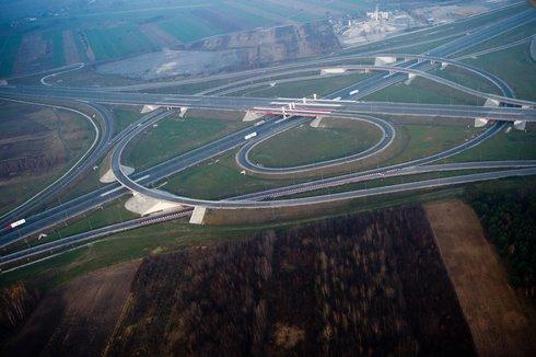 autostrady A1 i A2 skrzyżowanie