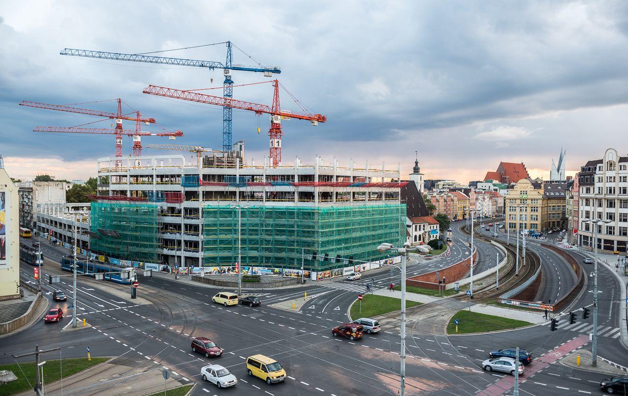 Skanska Property Poland Dominikanski - podczas budowy sierpien 2014