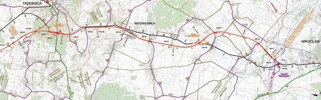S5 Trzebnica-Wroclaw przebieg mapa